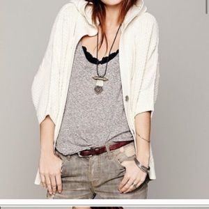 - Free people chunky knit batwing sleeve car…